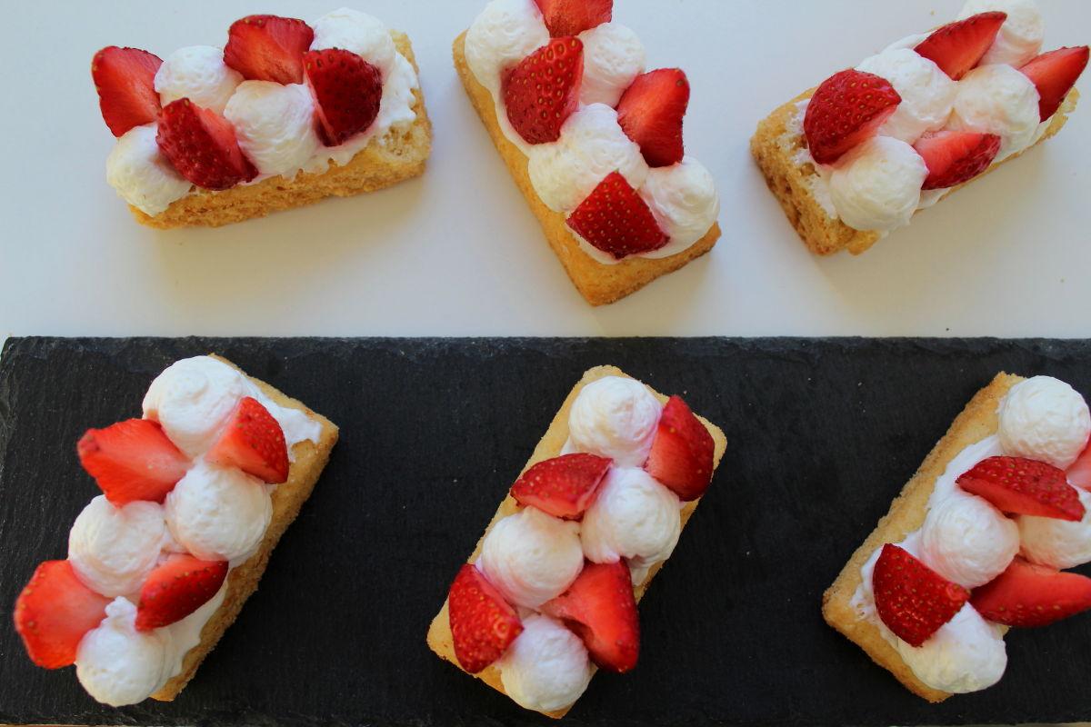 cheesecake revisité fraise, amande