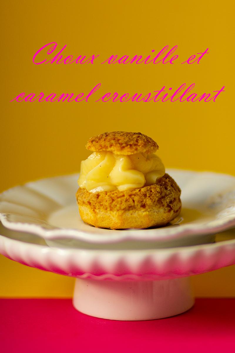 choux vanille et caramel croustillant