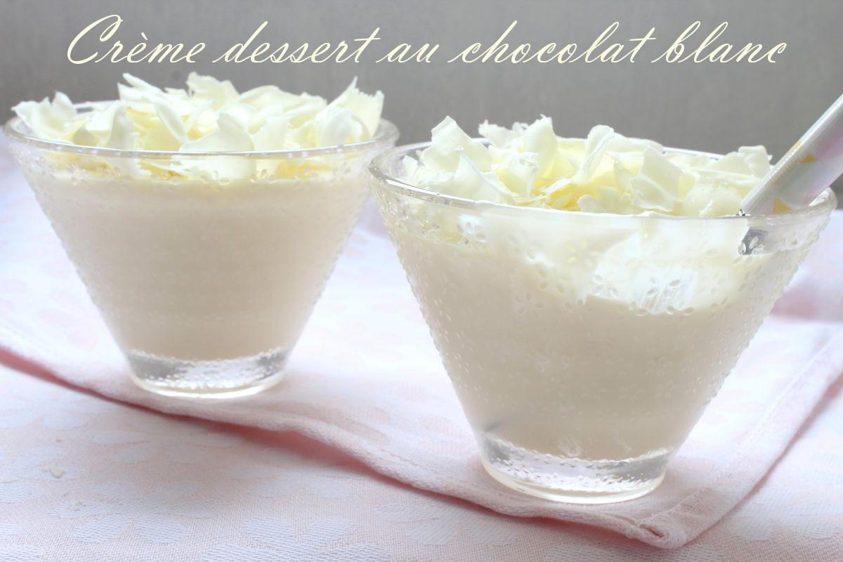Photo de mise en avant des crèmes dessert au chocolat blanc