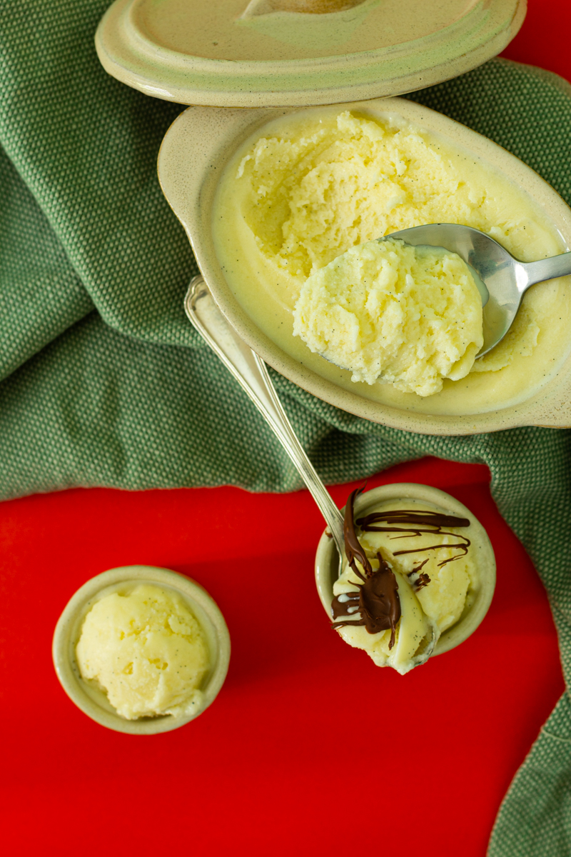 glace vanille maison avec sorbetière