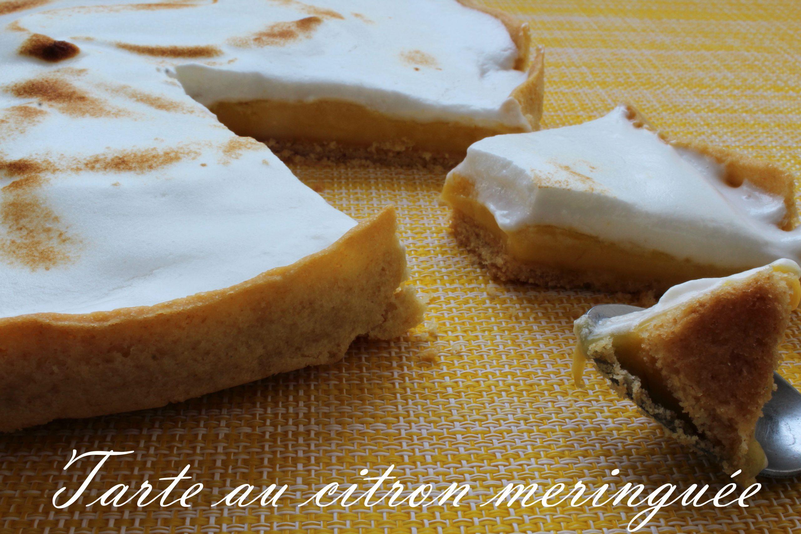 Photo de mise en avant de la tarte au citron meringuée