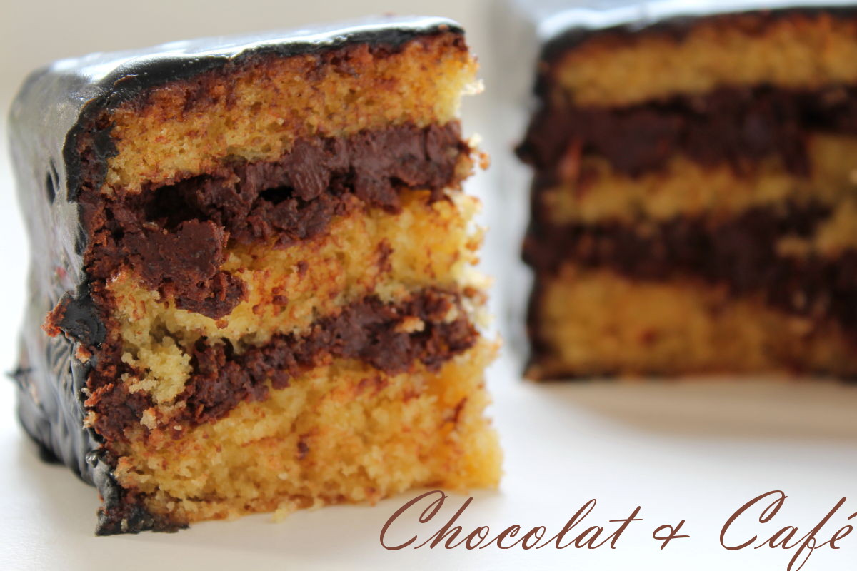 cake à étages chocolat et café