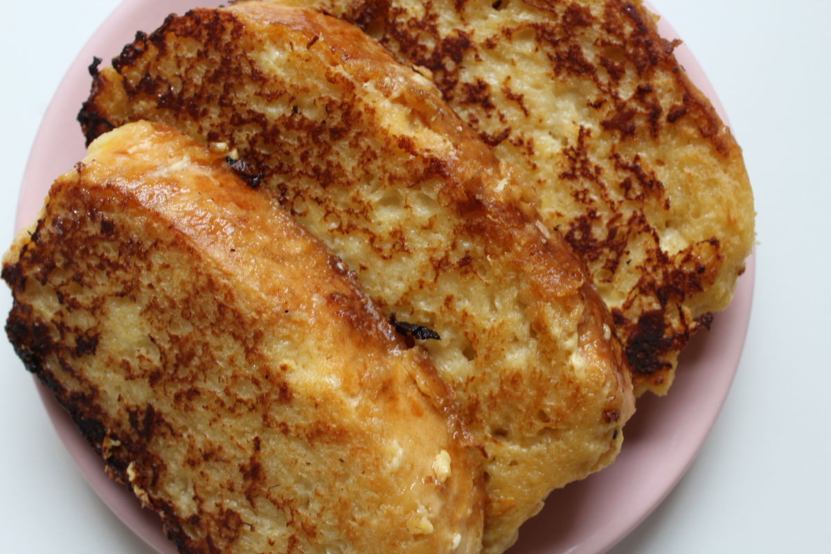 brioche façon pain perdu à la vanille