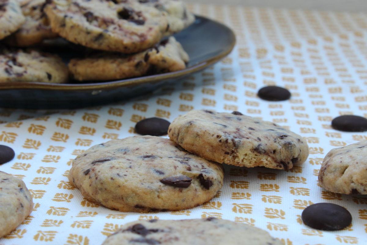 cookie aux pepites de chocolat noir