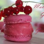macarons glacés à la groseille