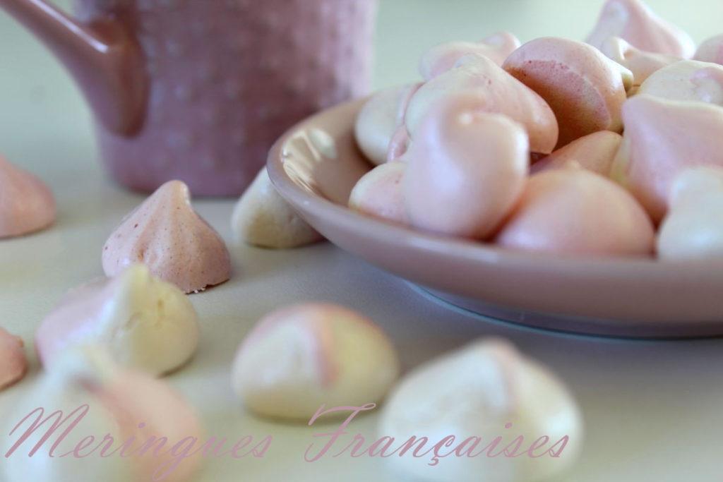 meringues françaises bicolores