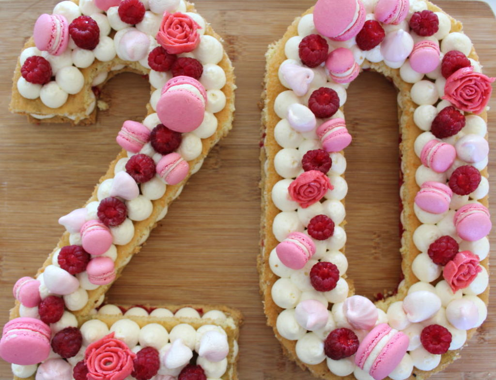 number cake framboise speculoos et cream cheese