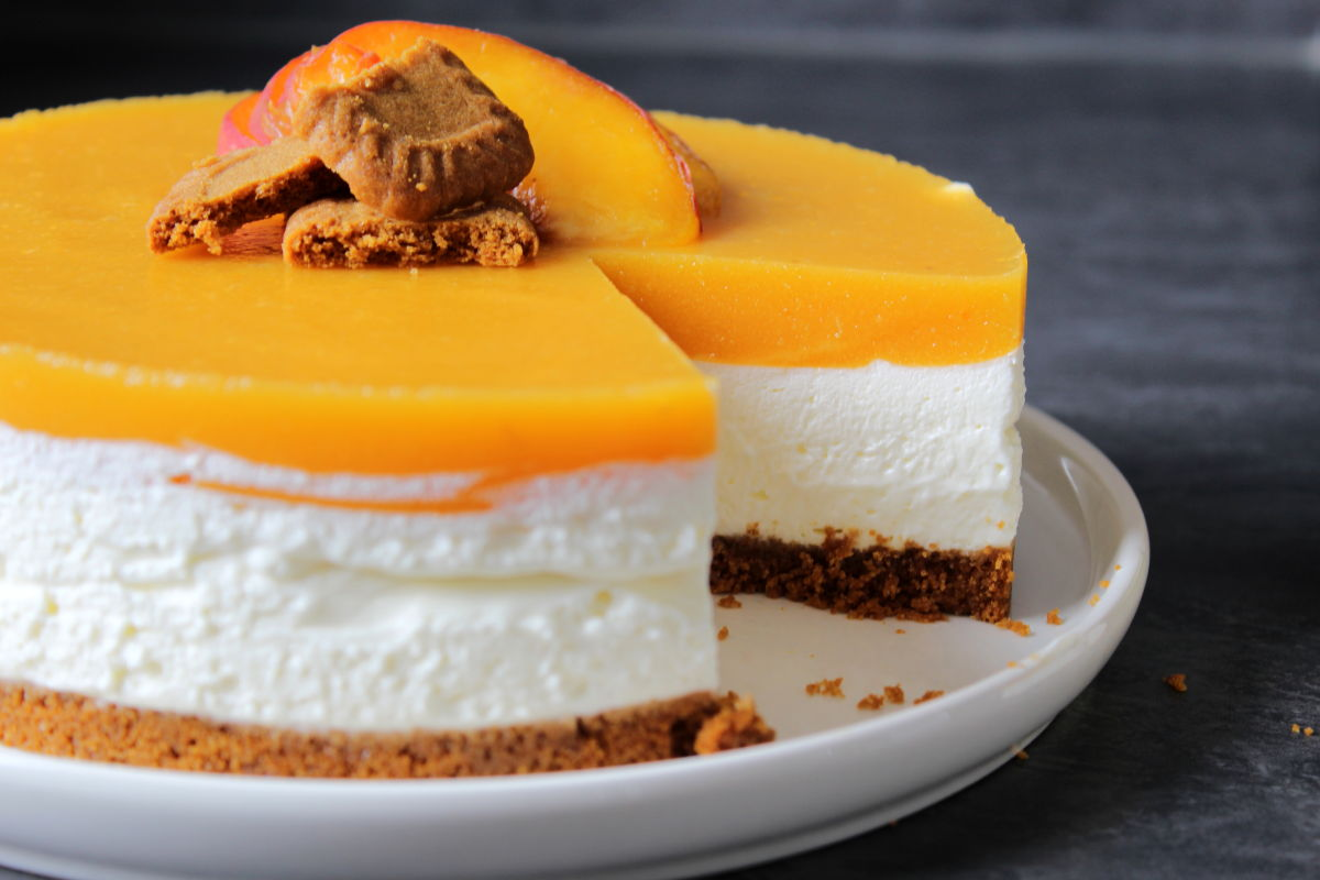 cheesecake peche et speculoos sans cuisson