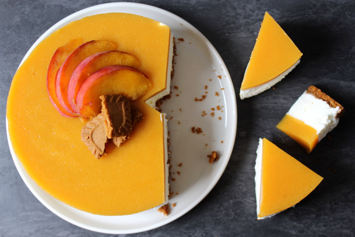 cheesecake peche speculoos