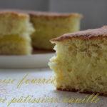 génoise fourrée à la crème pâtissière vanille