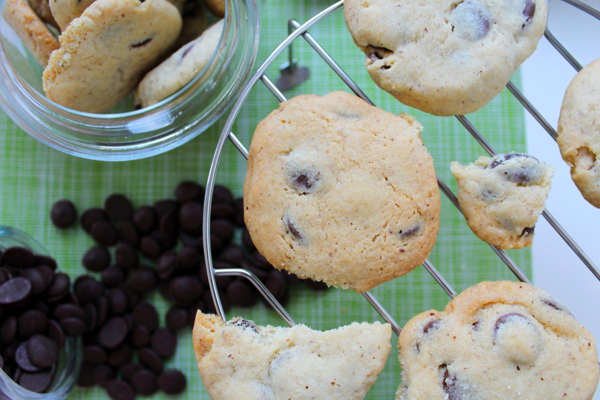 cookies au chocolat au lait et praliné
