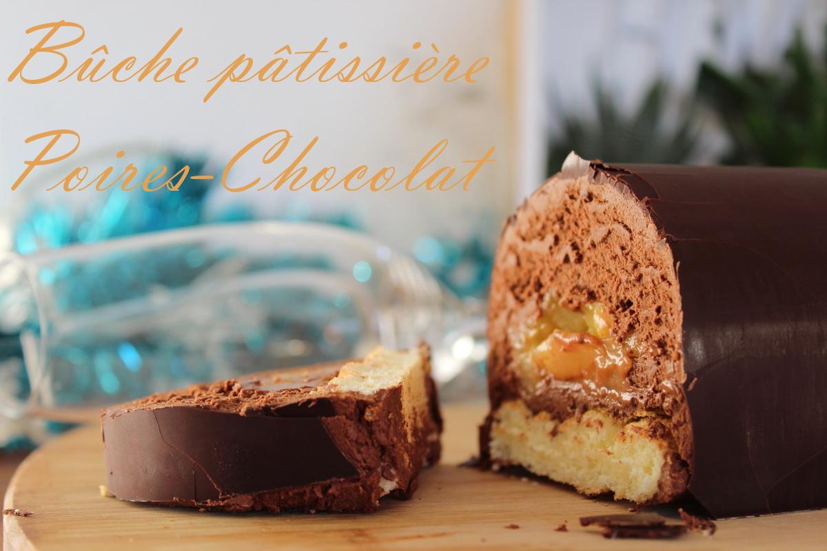 bûche poire-chocolat