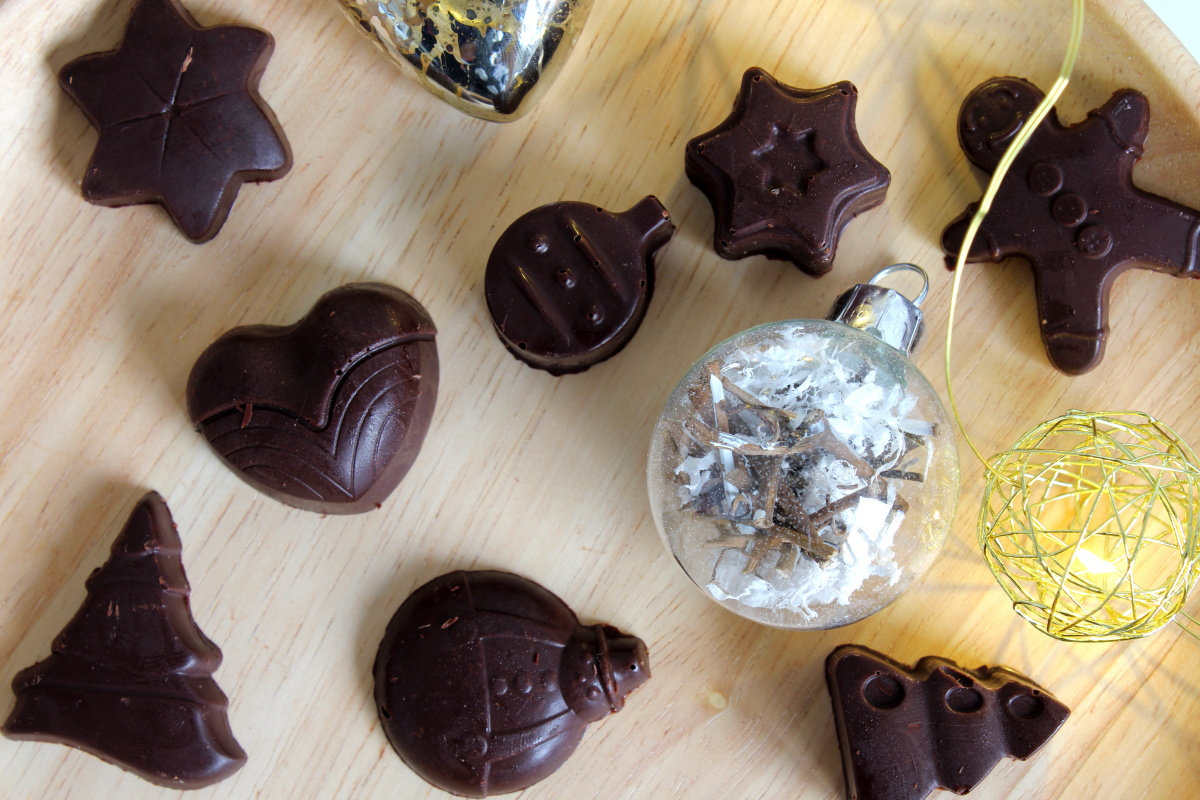 chocolats fourrés au caramel au beurre salé