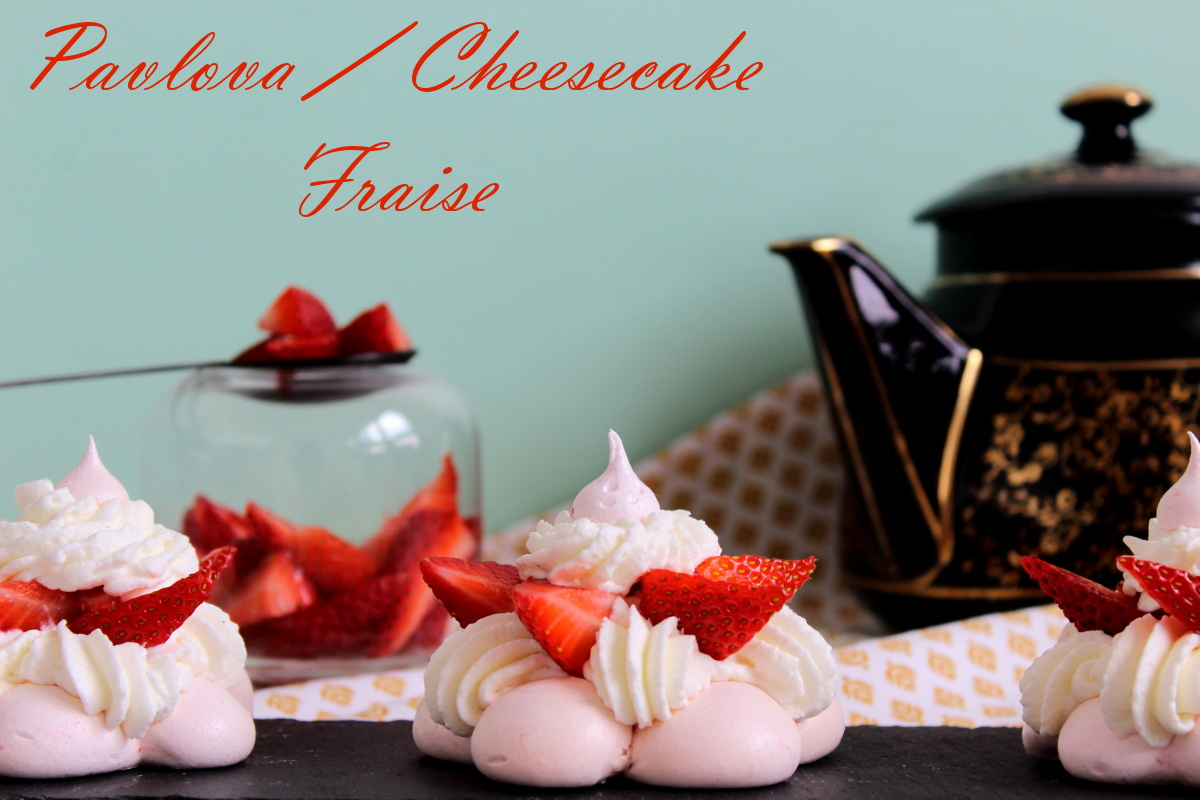 pavlova fraise et creamcheese