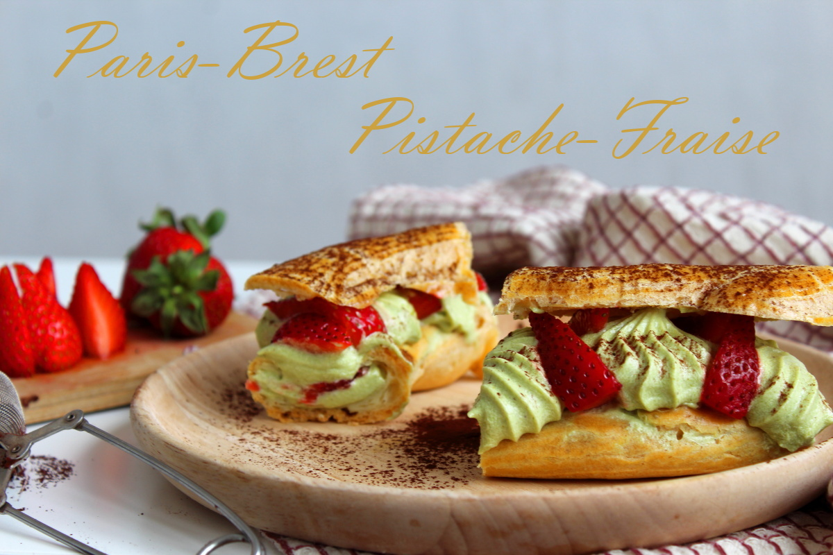 Paris-Brest fraise, pistache