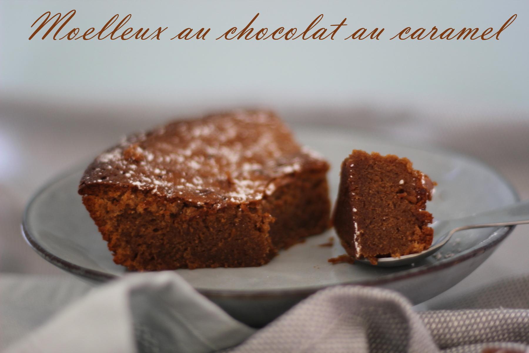 moelleux au chocolat au caramel