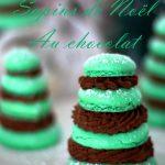 macarons sapins de Noël au chocolat