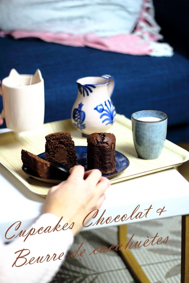 cupcakes chocolat et beurre de cacahuètes