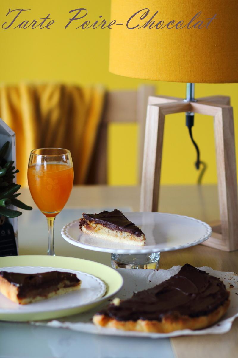 tarte amandine poire, chocolat