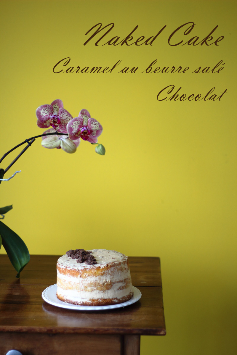 naked cake chocolat caramel