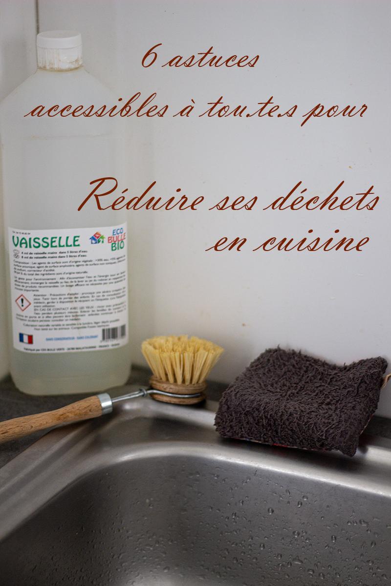 évier, vaisselle sans déchets