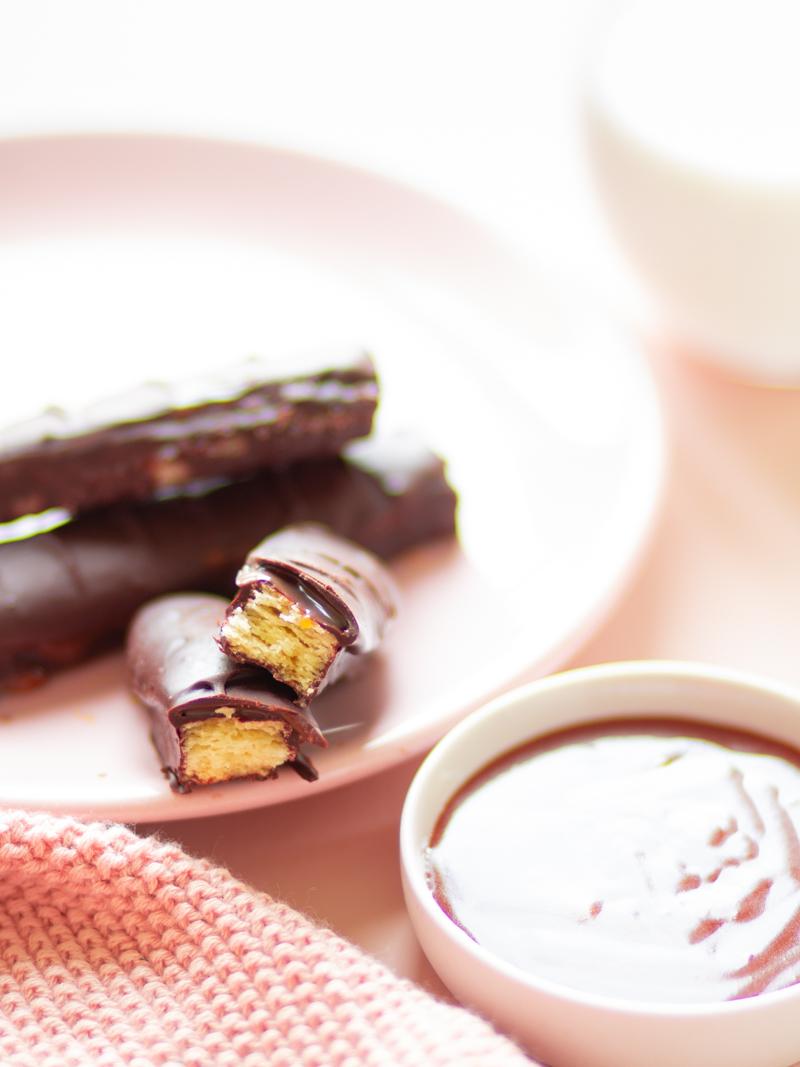 twix maison, barre chocolatée maison