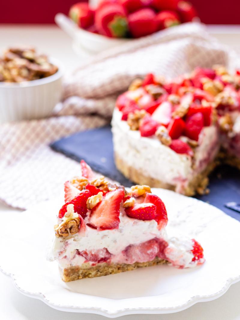 cheesecake fraises et noix