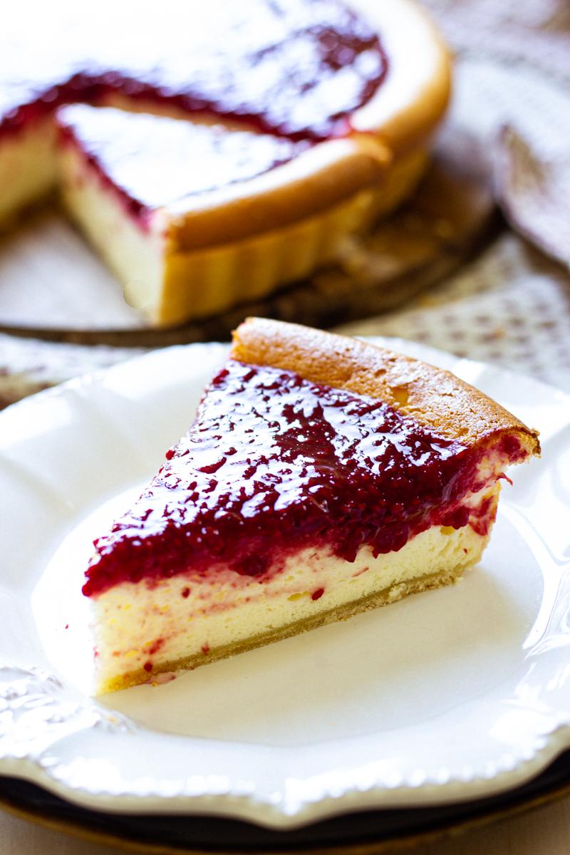 tarte fromage blanc framboise