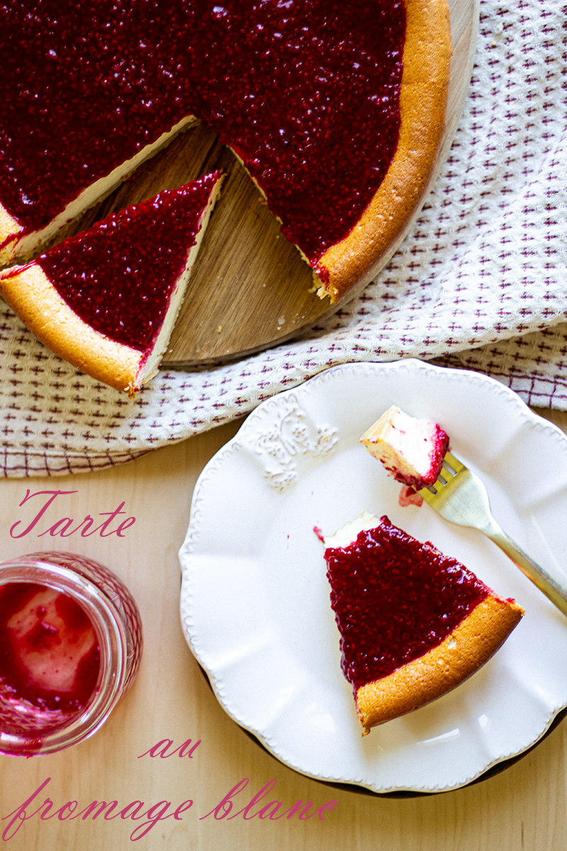 tarte fromage blanc et framboise