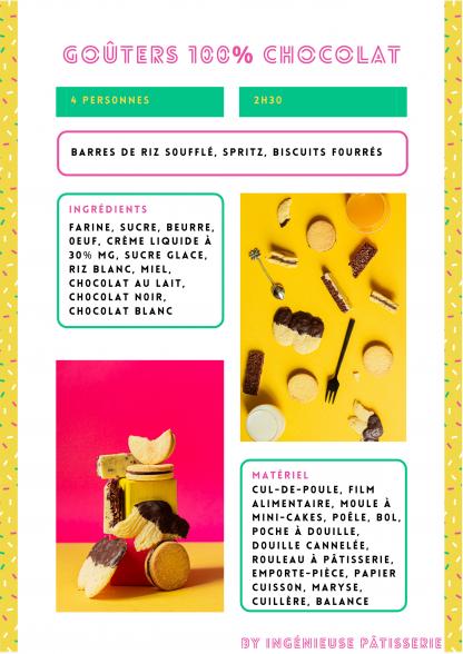 atelier pâtisserie en visio goûter 100% chocolat