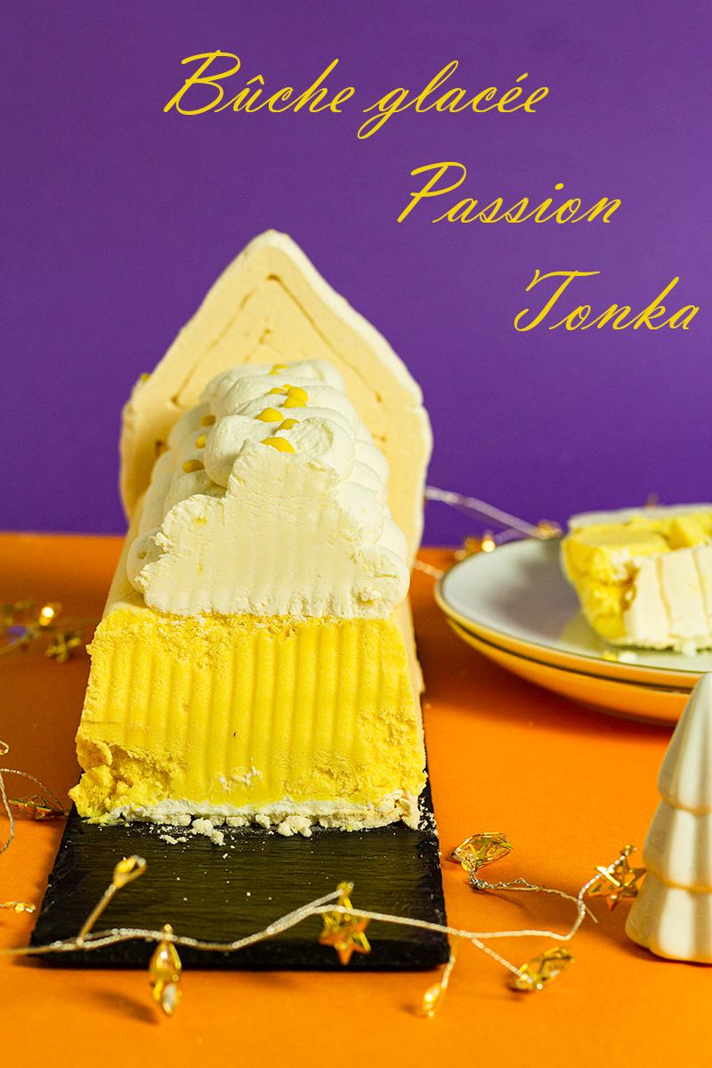 buche glacée passion tonka ou vanille