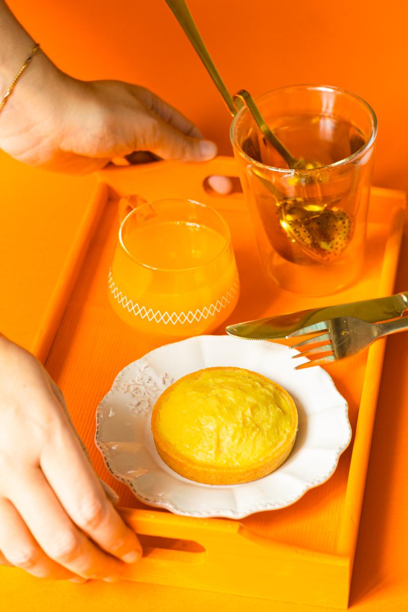 tarte à l'orange comme une tarte au citron