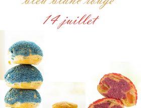dessert 14 juillet choux bleu blanc rouge